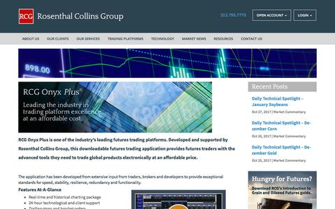 Screenshot of Trial Page rcgdirect.com - RCG Onyx Plus--Rosenthal Collins Group - captured Oct. 27, 2017