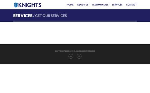 Screenshot of Services Page knights-agency.com - Health Care, Hospitality training Services & Courses | Knights Agency - captured Jan. 9, 2016
