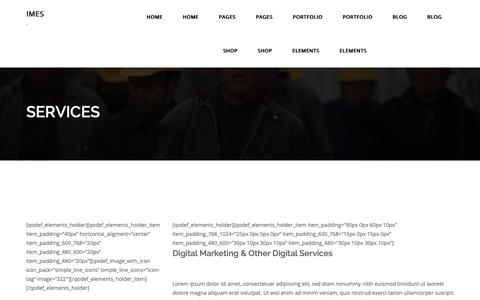 Screenshot of Services Page imes.mx - Services – IMES - captured Dec. 19, 2018