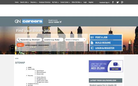 Screenshot of Site Map Page gncareers.com - Sitemap | GNcareers - captured Oct. 25, 2014