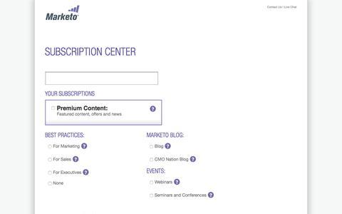 Screenshot of marketo.com - Email Subscription Center - Marketo - captured June 8, 2017