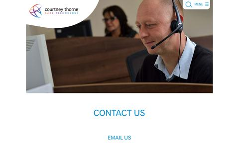 Screenshot of Contact Page nursecallsystems.co.uk - Contact Us | Courtney Thorne nurse call systems - captured Nov. 16, 2019