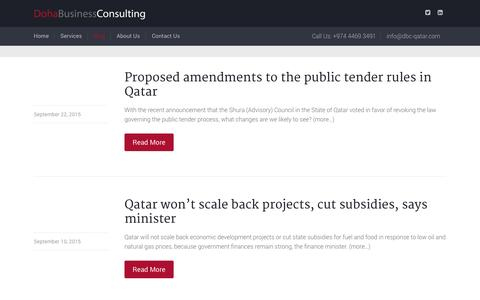 Screenshot of Blog dbc-qatar.com - Blog - Doha Business Consulting Qatar | dbc-qatar - captured Nov. 14, 2015