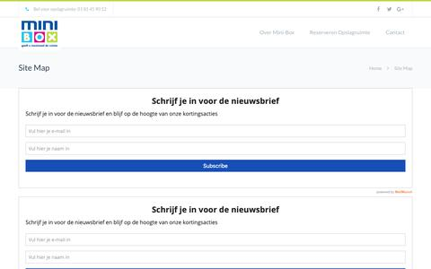 Screenshot of Site Map Page mini-box.nl - Site Map - Mini-Box - captured Oct. 20, 2018