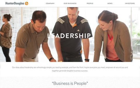 Screenshot of Team Page hunterdouglasgroup.com - Leadership - Hunter Douglas Group - captured Nov. 15, 2016