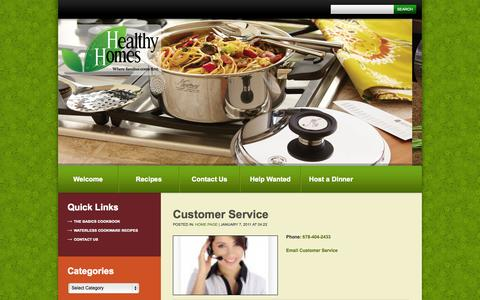 Screenshot of Support Page healthyhomesofatlanta.com - Customer Service  | - captured Oct. 2, 2014