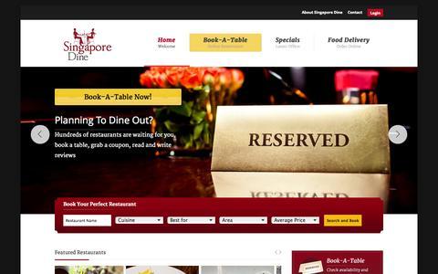 Screenshot of Home Page singapore-dine.sg - Singapore Restaurants Reservation | Restaurant Guide - captured Jan. 26, 2015