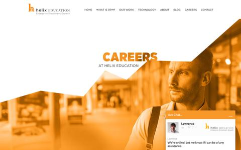 Screenshot of Jobs Page helixeducation.com - Careers - Helix Education - captured July 18, 2018