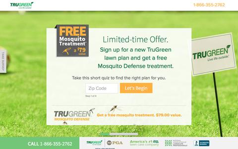 Screenshot of Landing Page trugreen.com - TruGreen. Live Life outside. - captured May 28, 2017