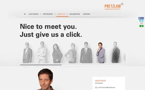 Screenshot of Team Page pretzlaw.de - Team | Pretzlaw Communications GmbHPretzlaw Communications GmbH - captured Sept. 23, 2014