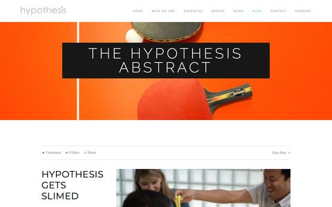 The Hypothesis Abstract — Hypothesis Group