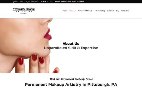 Screenshot of About Page pghpermanentmakeup.com - About Us – Permanent Makeup Artistry - captured July 11, 2018