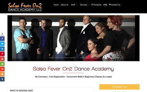 Screenshot of FAQ Page salsafeveron2.com - Salsa Fever On2 – Frequently Asked Questions | Salsa Fever On2 - captured Nov. 17, 2016