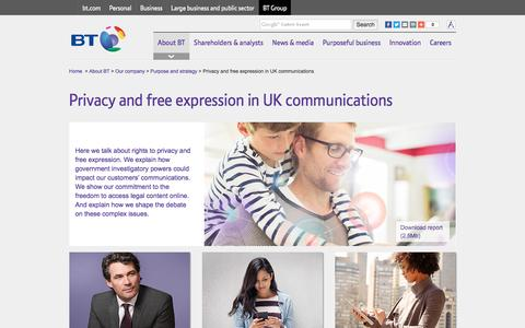Privacy and free expression in UK communications
