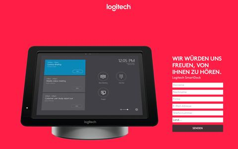 Screenshot of Landing Page logitech.com - Logitech SmartDock | Contact Us - captured May 24, 2017