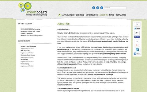 Screenshot of About Page greenboardnz.com - About Us | Greenboard NZ - captured Oct. 3, 2014