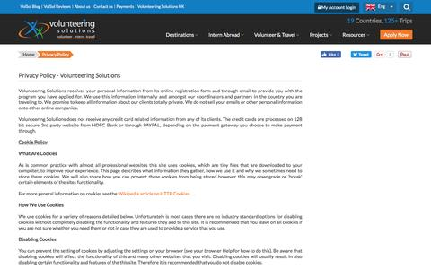 Screenshot of Privacy Page volunteeringsolutions.com - Privacy Policy - Volunteering Solutions - captured Dec. 4, 2016