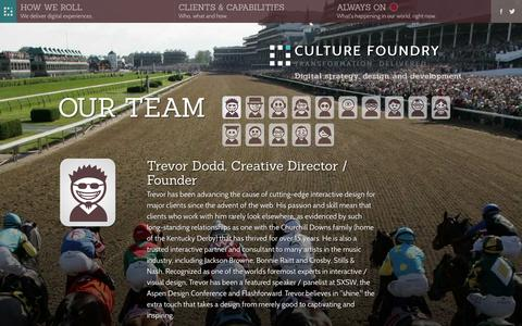 Screenshot of Team Page culturefoundry.com - Our Team - Interactive strategy, design and development in Austin, Boulder, Portland and Seattle - Culture Foundry - captured Oct. 28, 2014