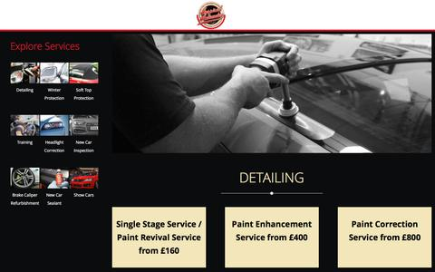 Screenshot of Services Page inspired-automotive.co.uk - Detailing – Inspired Automotive - captured June 7, 2017