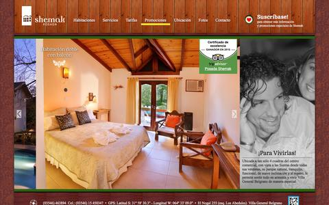Screenshot of Home Page shemak.com.ar - Shemak - Posada en Villa General Belgrano - captured March 27, 2016