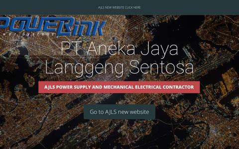 Screenshot of Home Page ajlspower.com - PT Aneka Jaya Langgeng Sentosa   AJLS power supply and mechanical electrical contractor - captured Feb. 6, 2016