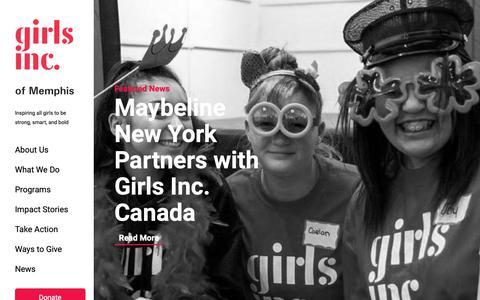 Screenshot of Blog girlsincmemphis.org - Blog Archive   Girls Inc - captured Nov. 10, 2018