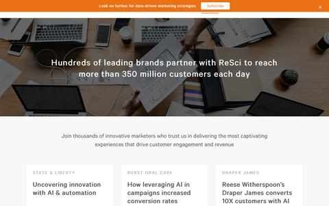 Screenshot of Case Studies Page retentionscience.com - Clients - See why hundreds of leading brands trust ReSci - captured Nov. 30, 2019