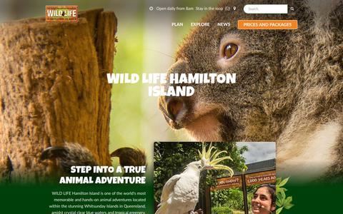 Screenshot of Home Page wildlifehamiltonisland.com.au - WILD LIFE Hamilton Island | Official Site - captured Oct. 26, 2018