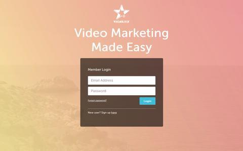 Screenshot of Login Page videoburst.com - Videoburst - captured Nov. 1, 2017