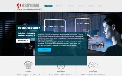 Screenshot of Home Page assyoma.it - Assyoma - Azienda Informatica - captured Oct. 9, 2017