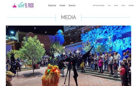 Screenshot of Press Page visitelpaso.com - Media - Destination El Paso | El Paso, Texas - captured Aug. 26, 2016