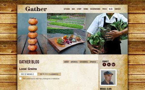 Screenshot of Blog gatherrestaurant.com - Gather Restaurant - Blog - captured Sept. 19, 2014