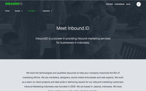 Screenshot of About Page inboundid.com - About Inbound Marketing Indonesia - captured July 21, 2018