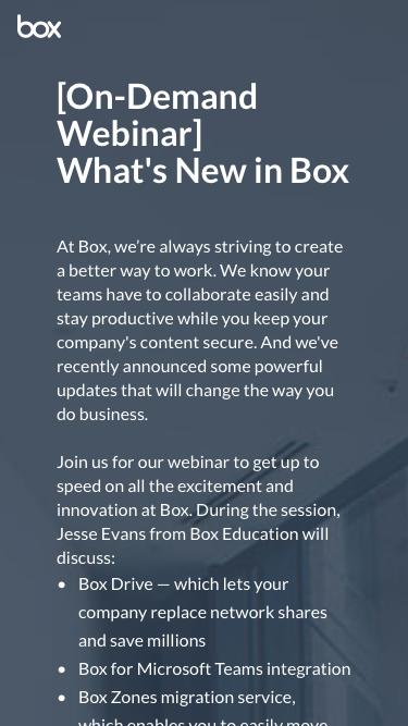What's New in Box