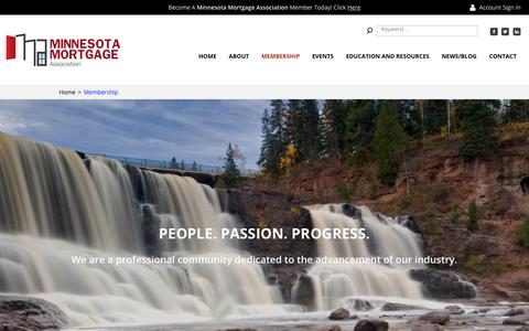 Screenshot of Pricing Page themma.org - Become a member of the Minnesota Mortgage Association today! - captured Oct. 21, 2018