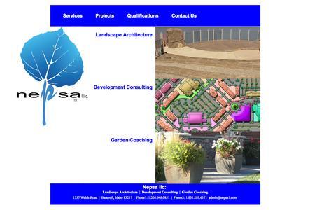 Screenshot of Services Page nepsa1.com - Nepsa llc: Services - captured Nov. 5, 2014