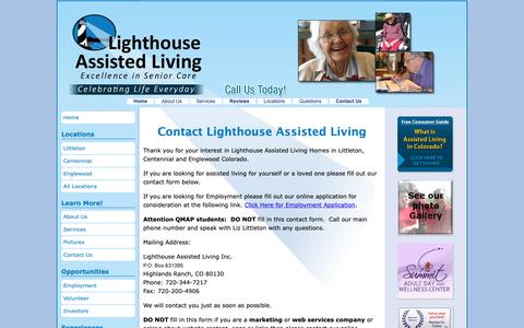 Screenshot of Contact Page lighthouseassistedliving.com - Contact Assisted Living Littleton   Lighthouse Assisted Living - captured Dec. 15, 2018