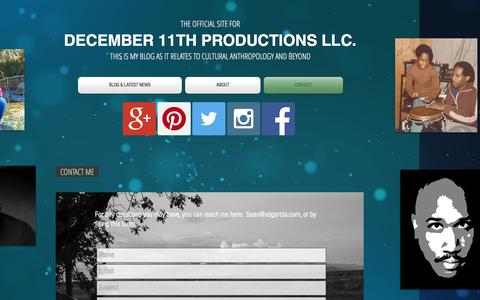 Screenshot of Contact Page 1211productions.com - 1211anthropology | CONTACT - captured Nov. 24, 2016