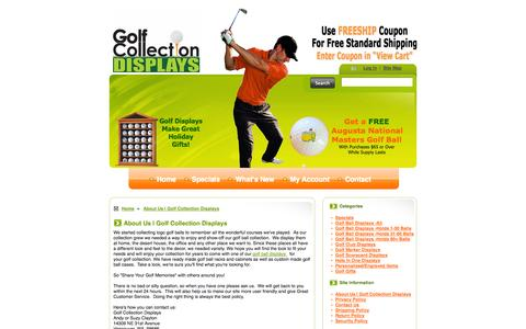 Screenshot of About Page golfcollectiondisplays.com - About Us   Golf Collection Displays - captured Oct. 27, 2014