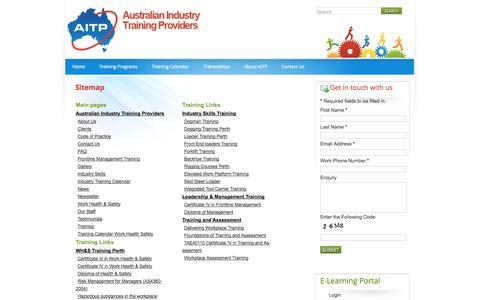 Screenshot of Site Map Page aitp.com.au - Sitemap | aitp - captured Oct. 4, 2014