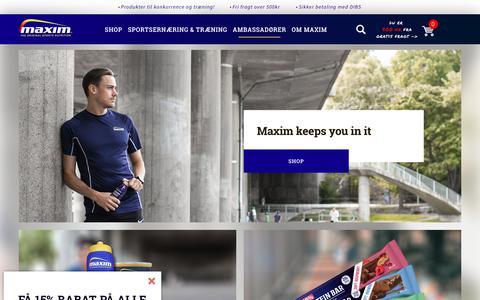 Screenshot of Home Page maxim.dk - Maxim - Maxim.dk - captured Oct. 17, 2018