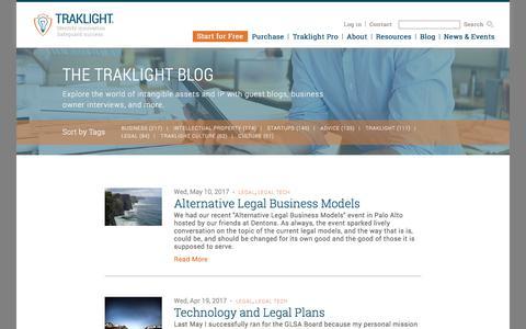 Screenshot of Terms Page traklight.com - Traklight Blog | Legal - captured Oct. 4, 2017