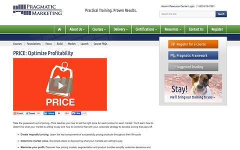 Price - Optimize Profitability