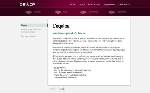 Screenshot of About Page devlop.eu - Développement immobilier: Bureaux, Halls, Commerces et Maisons - Devlop - captured Oct. 29, 2014
