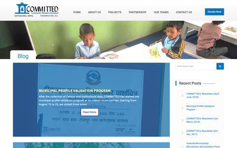 Screenshot of Blog cminepal.org - Blog | CMI Nepal - captured Sept. 29, 2018