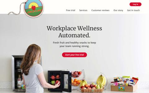 Screenshot of Home Page apple-a-day.com - Apple-A-Day - Workplace Wellness Automated - captured Jan. 25, 2018