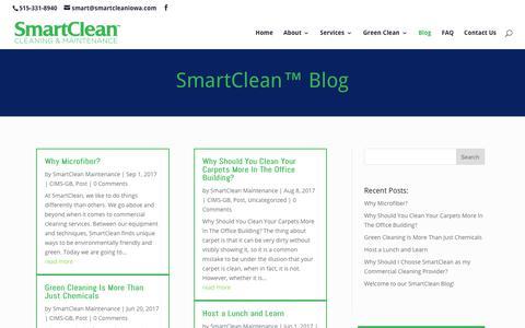 Screenshot of Blog smartcleaniowa.com - Blog | Iowa's SmartClean™ Cleaning & Maintenance - captured Oct. 26, 2017