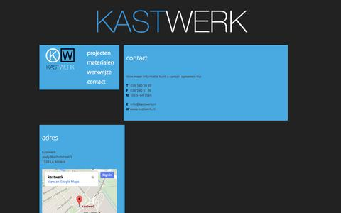 Screenshot of Contact Page kastwerk.nl - contact | KastWerk - captured Oct. 27, 2014
