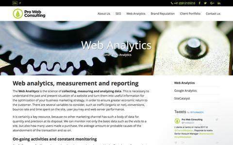 Web Analytics: data analysis | Pro Web Consulting