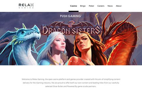 Screenshot of Home Page relax-gaming.com - Relax Gaming Ltd. - Relax Gaming Ltd. - captured Oct. 18, 2018